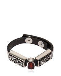 HTC Hollywood Trading Company | Keyla Metallic Detail Leather Bracelet for Men | Lyst