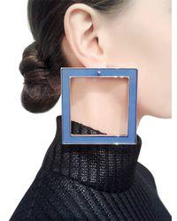 Sylvio Giardina - Blue Seven 7 Large & Small Square Earrings - Lyst