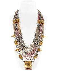 Deepa Gurnani | Metallic Skull Claw Chain Necklace | Lyst