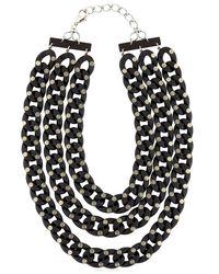 Pluma - Black 3 Chain Necklace - Lyst