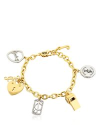 Juicy Couture - Metallic Juicy Charms Chain Bracelet - Lyst