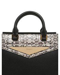 Vionnet - Multicolor Elaphe & Grained Leather Top Handle Bag - Lyst