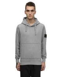 Sweat-Shirt En Coton À Capuche Stone Island pour homme en coloris Gray