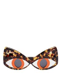 Yazbukey - Brown Cat Face Acetate Sunglasses - Lyst