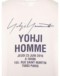 Yohji Yamamoto White Printed Cotton Long Sleeve T-shirt for men