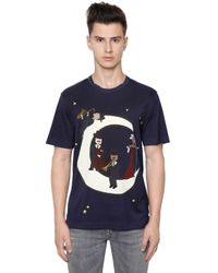 Dolce & Gabbana | Blue Music Moon Printed Cotton Jersey T-shirt for Men | Lyst