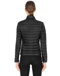 Moncler Black Leyla Longue Saison Nylon Down Jacket