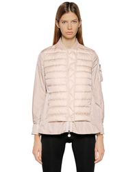 Moncler | Pink Barreme Quilted Nylon Down Jacket | Lyst