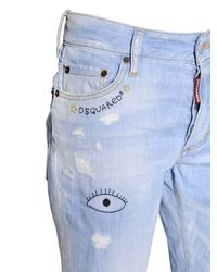 DSquared² Blue Boyfriend Stretch Cotton Denim Jeans