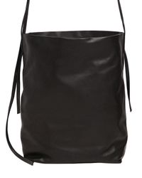 Ann Demeulemeester | Black Medium Leather Shoulder Bag | Lyst