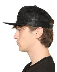 KTZ Black New Era Cotton Canvas & Mesh Hat for men