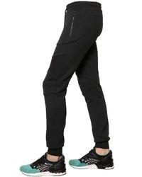 Belstaff Black Cotton Biker Sweatpants for men