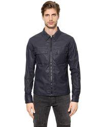Belstaff Blue Shawbury Waxed Cotton Jacket for men