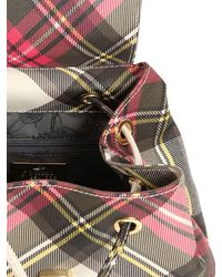 Vivienne Westwood Multicolor Derby Plaid Print Faux Leather Backpack
