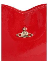 Vivienne Westwood Red Margate Heart Faux Patent Leather Clutch