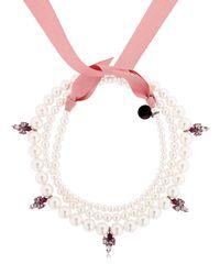 Ellen Conde | Pink Brilliant Jewelry Pearl Necklace | Lyst