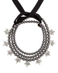 Ellen Conde | Brilliant Jewelry Black Pearl Necklace | Lyst