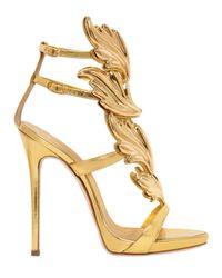 Giuseppe Zanotti | Metallic 120mm Leaf Mirror Leather Sandals | Lyst