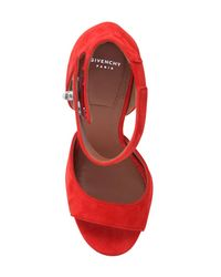 Givenchy | Blue Shark Lock Suede Sandals | Lyst