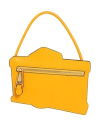 Moschino | Yellow Camera Printed Leather Pouch | Lyst