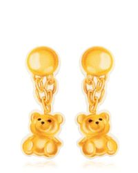 Moschino | Metallic Teddy Bear Neoprene Clip-on Earrings | Lyst