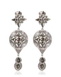 Roberto Cavalli | Metallic Deco Earrings | Lyst