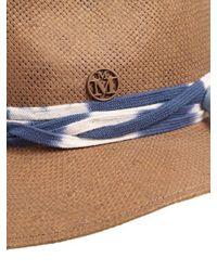 Maison Michel Multicolor Andre Woven Paper Hat