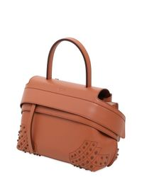 Tod's - Brown Small Wave Smooth Leather Bag - Lyst