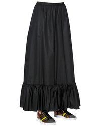 I'm Isola Marras Black Cotton Poplin Skirt With Ruffled Hem