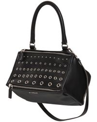 Givenchy | Black Small Pandora Eyelets Smooth Leather | Lyst