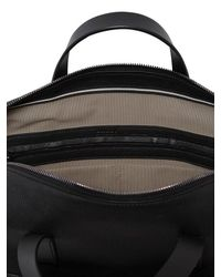 Bally Black Web Leather Briefcase for men