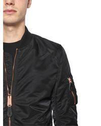 Alpha Industries | Black Ma-1 Vf Lw Slim Fit Nylon Bomber Jacket for Men | Lyst