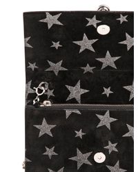 Saint Laurent | Black Kate Monogram Stars Suede Chain Bag | Lyst