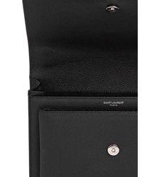 Saint Laurent - Black Medium Sunset Monogram Leather Bag - Lyst
