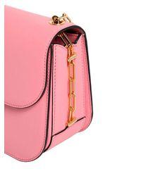 Valentino Pink Chain Details Leather Shoulder Bag