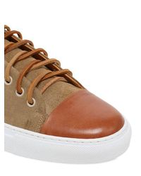 Dino Draghi - Natural Suede & Brushed Leather Sneakers for Men - Lyst