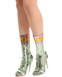 Gucci Multicolor Webright Sequin Socks