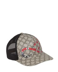 Gucci | Natural Snake Coated Gg Canvas Baseball Hat for Men | Lyst