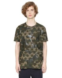 Valentino Multicolor Camustars Cotton Jersey T-shirt for men