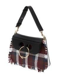 J.W.Anderson - Black Medium Pierce Woven Leather Shoulder Bag - Lyst