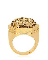 Versace Metallic Multi Angular Medusa Ring