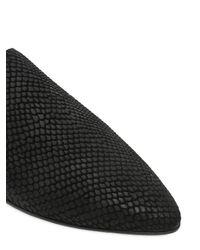 The Kooples - Black Snakeskin Effect Leather Loafers - Lyst