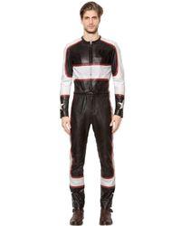 Belstaff Black Guildhall Leather Racing Jumpsuit for men