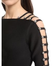David Koma - Black Deconstructed Knit Dress - Lyst
