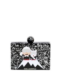 Karl Lagerfeld Multicolor Holiday Karl Iceberg Glitter Box Clutch