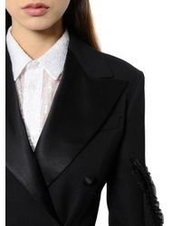 Y. Project Black Deconstructed Wool Crepe & Satin Jacket