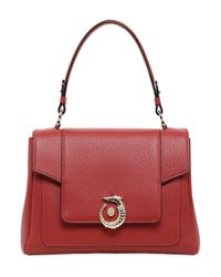 Trussardi | Red Lovy Grained Leather Top Handle Bag | Lyst