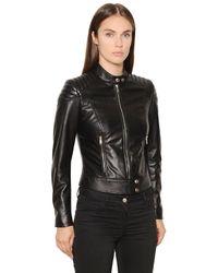 Belstaff Black Quilted Leather Jacket
