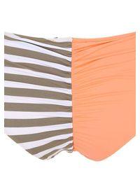 Albertine Multicolor Colorado Peach & Stripes Lycra Bikini