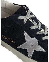 Golden Goose Deluxe Brand Blue Super Star Suede Sneakers for men